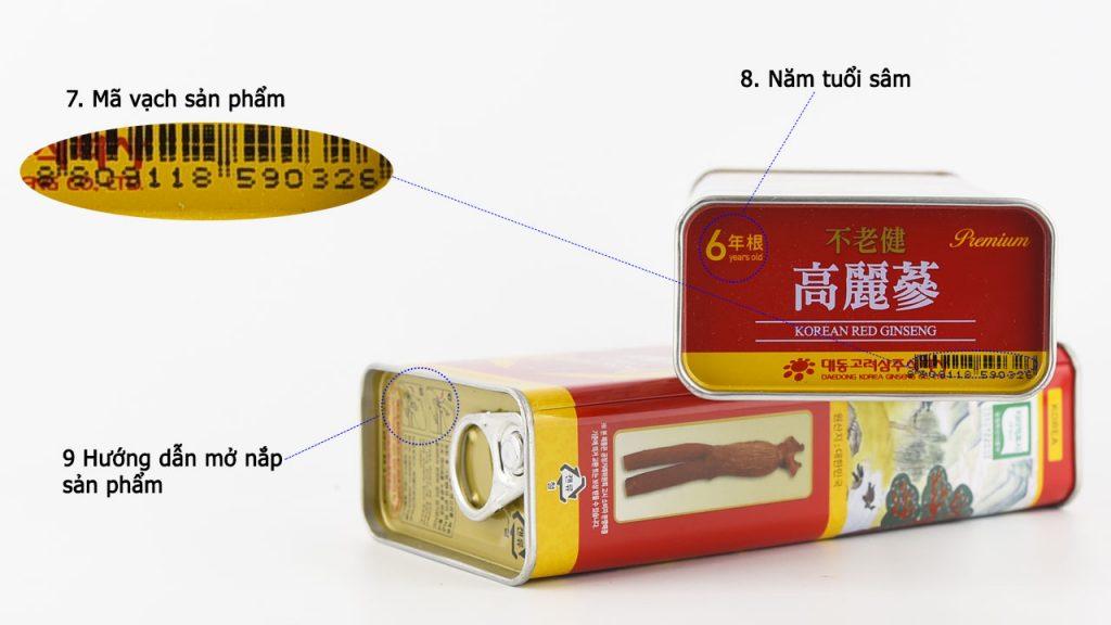 trọng lượng hộp sâm