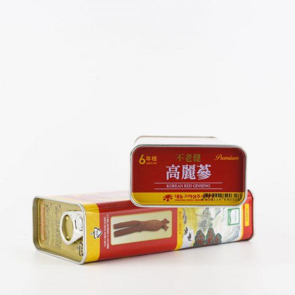 hồng sâm củ khô hộp thiếc daedong premium 37.5gr hàn quốc 1