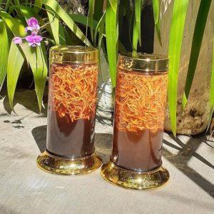 đông trùng hạ thảo sợi khô ngâm mật ong
